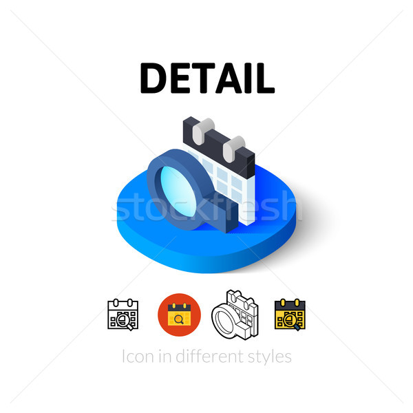 Detail icon in different style Stock photo © sidmay