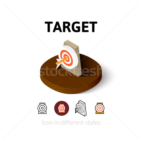 Target icon in different style Stock photo © sidmay