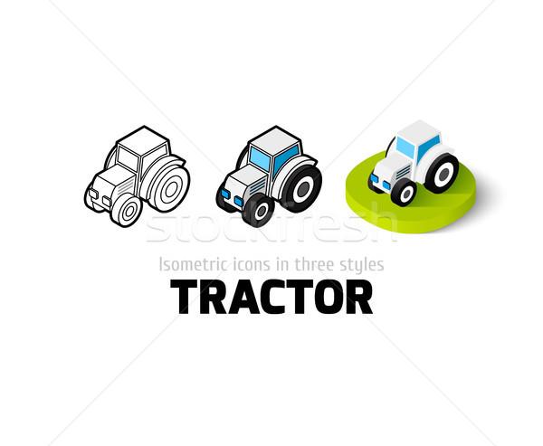 Traktor ikon különböző stílus vektor szimbólum Stock fotó © sidmay