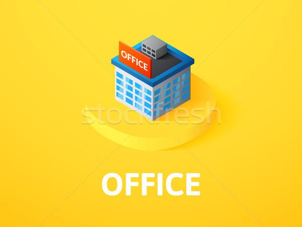 オフィス アイソメトリック アイコン 孤立した 色 ベクトル ストックフォト © sidmay