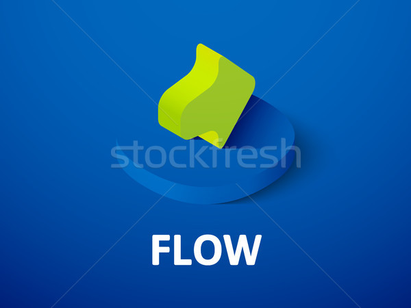 Flow isometric icon, isolated on color background Stock photo © sidmay