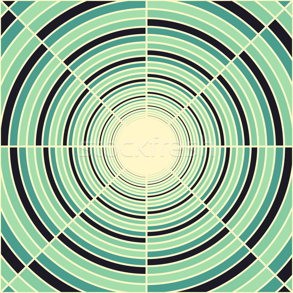 Abstract deep green tube, light at end of tunnel Stock photo © sidmay