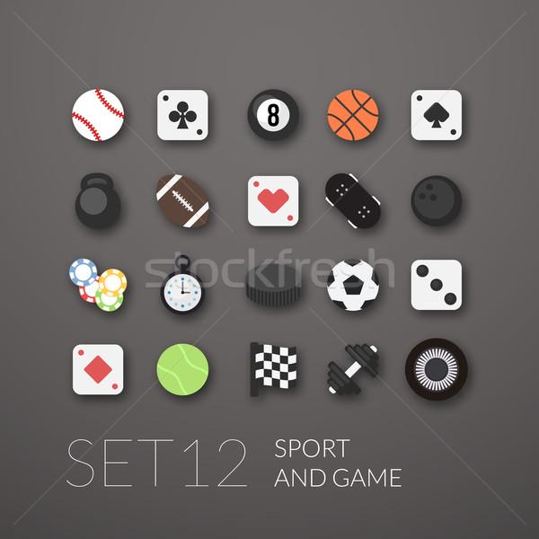 12 deporte juego colección diseno Foto stock © sidmay
