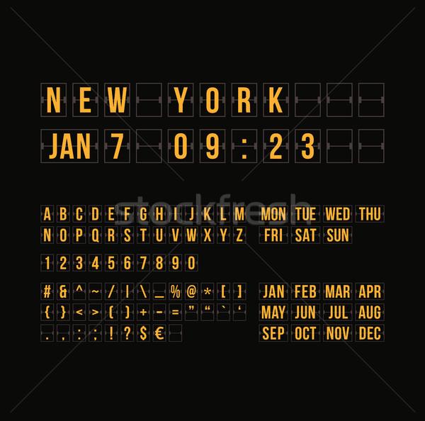 Schets countdown timer datum kalender scorebord Stockfoto © sidmay