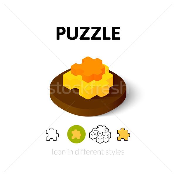 Сток-фото: головоломки · икона · различный · стиль · вектора · символ