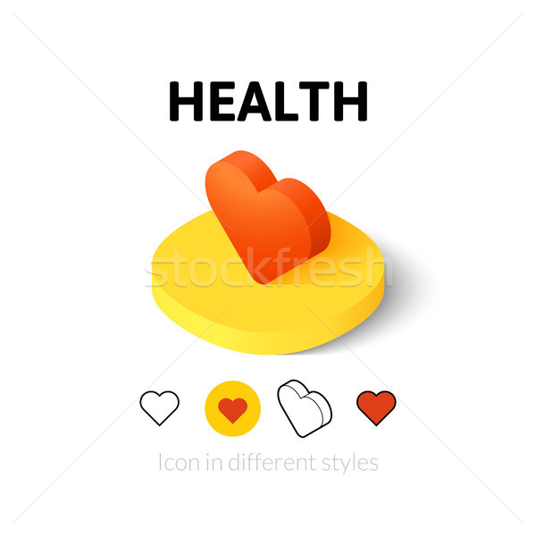 Health icon in different style Stock photo © sidmay