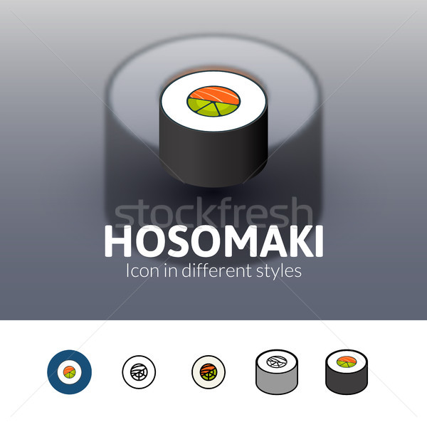 Hosomaki icon in different style Stock photo © sidmay