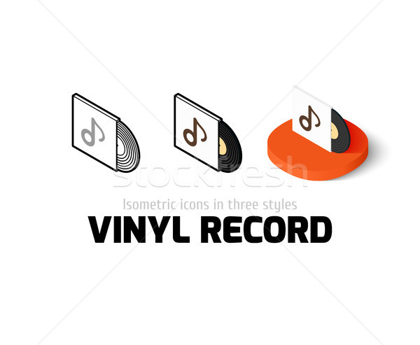 Stock photo: Vinyl record icon in different style