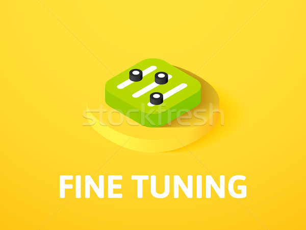 Fine tuning isometric icon, isolated on color background Stock photo © sidmay