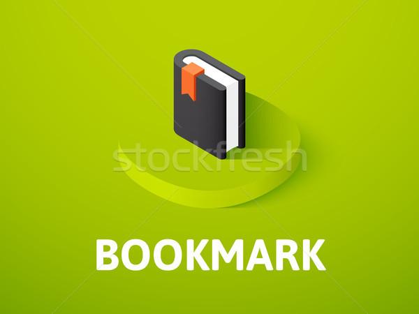 Bladwijzer isometrische icon geïsoleerd kleur vector Stockfoto © sidmay
