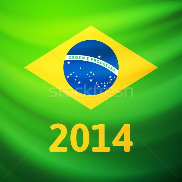 Tkaniny banderą Brazylia streszczenie projektu Zdjęcia stock © sidmay