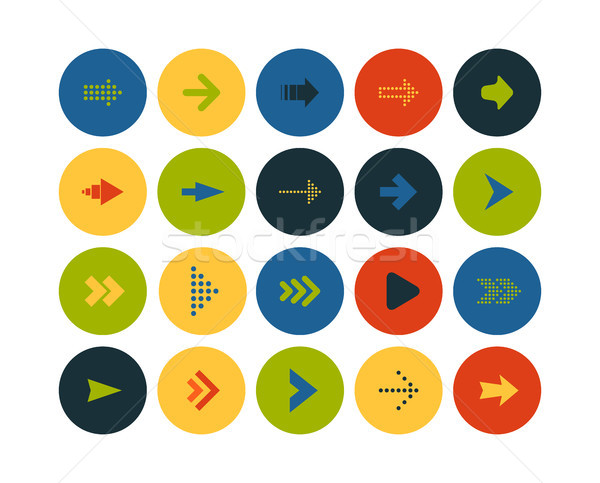 Flat icons set 28 Stock photo © sidmay