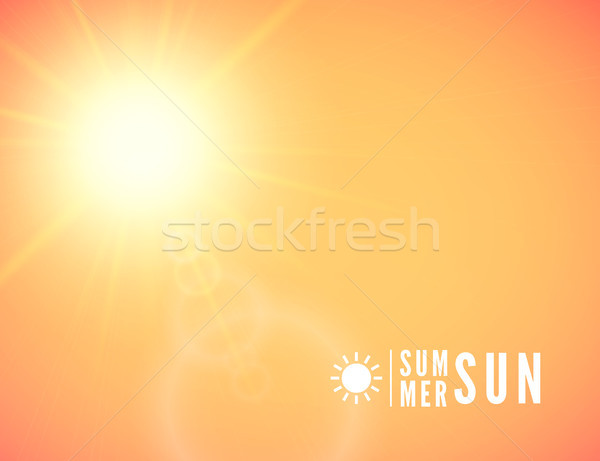 Summer background, summer sun with lens flare Stock photo © sidmay