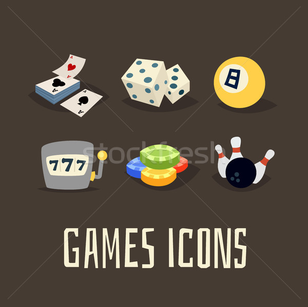 Gioco d'azzardo giochi logo cartoon Foto d'archivio © sidmay