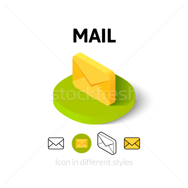 E-mail ícone diferente estilo vetor símbolo Foto stock © sidmay