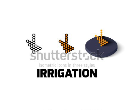 Stock photo: Irrigation icon in different style