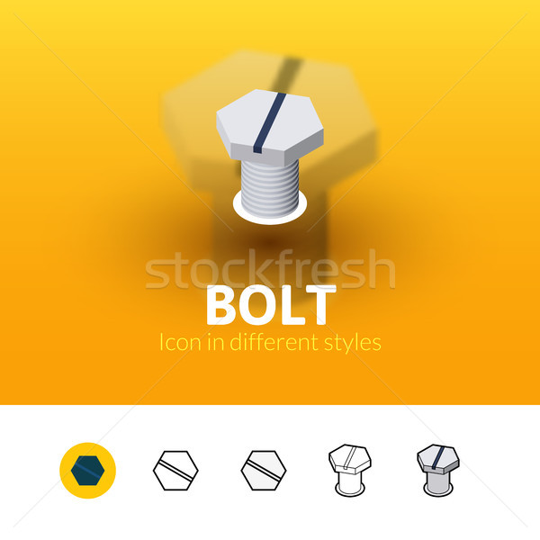 Bolt icon in different style Stock photo © sidmay