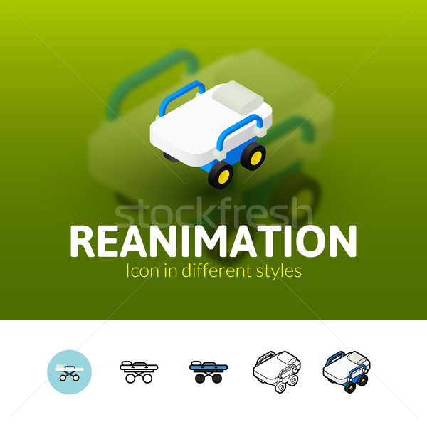 Reanimation icon in different style Stock photo © sidmay