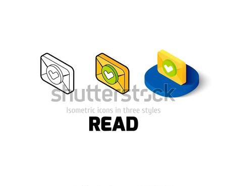 Comprobar mail icono diferente estilo vector Foto stock © sidmay