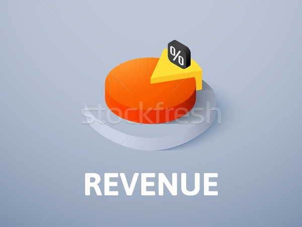 Revenue isometric icon, isolated on color background Stock photo © sidmay
