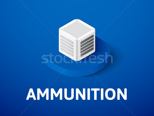 Ammunition isometric icon, isolated on color background Stock photo © sidmay