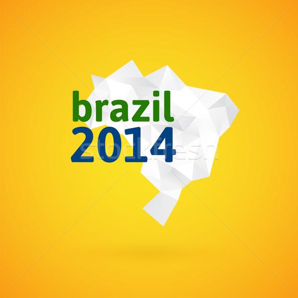 三角形 テクスチャ ブラジル 地図 ベクトル 幾何学的な ストックフォト © sidmay