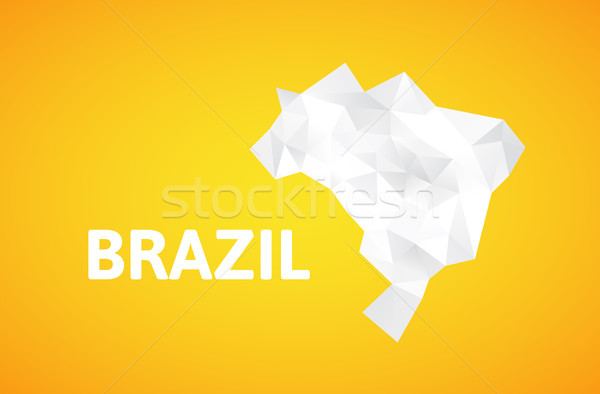 Triangle texture Brazil map Stock photo © sidmay