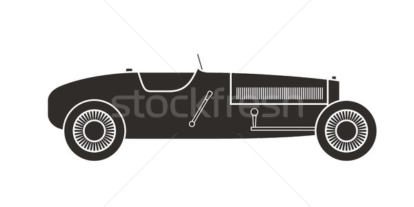 Retro sport racing car, vintage collection Stock photo © sidmay