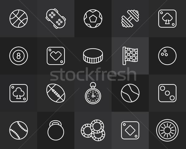 Iconos delgado diseno moderna línea Foto stock © sidmay