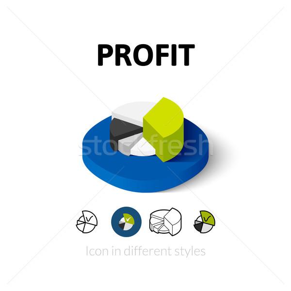 Winst icon verschillend stijl vector symbool Stockfoto © sidmay