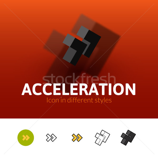 Acceleration icon in different style Stock photo © sidmay