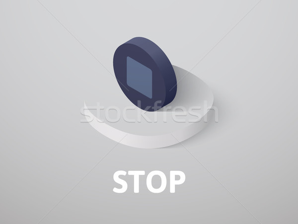 Stop isometric icon, isolated on color background Stock photo © sidmay