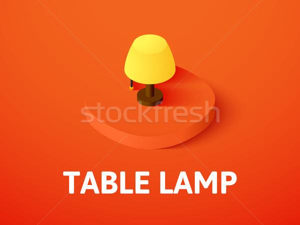 Mesa lámpara icono aislado color Foto stock © sidmay