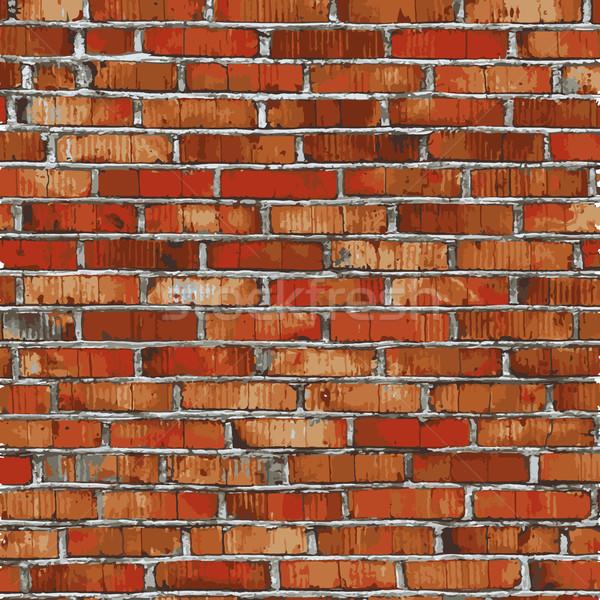 Murem czerwony ulga tekstury cień budowy Zdjęcia stock © sidmay