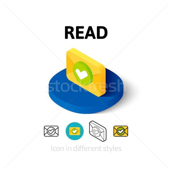 Read icon in different style Stock photo © sidmay