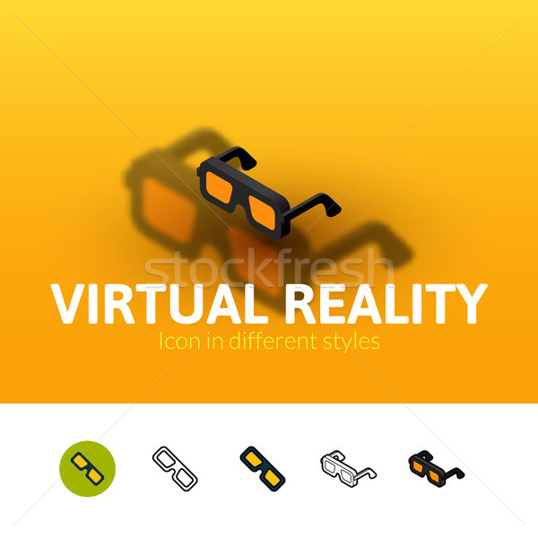 Virtual reality icon in different style Stock photo © sidmay