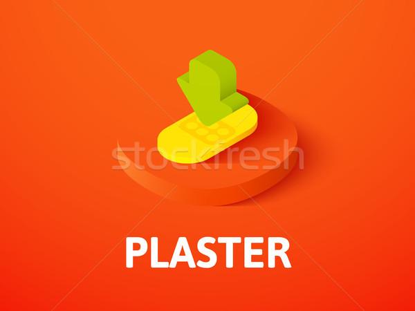 Tapasz izometrikus ikon izolált szín vektor Stock fotó © sidmay