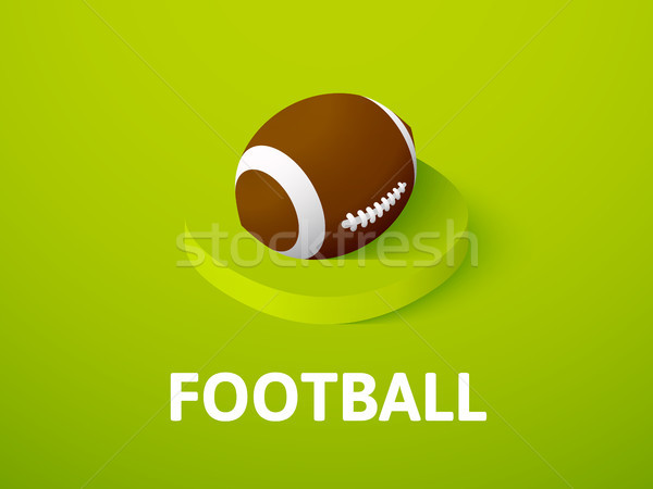 Stock photo: Football isometric icon, isolated on color background