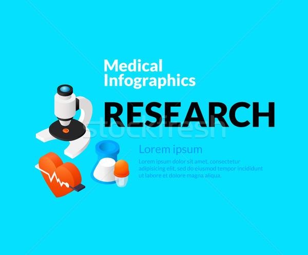 Médico saúde conjunto isométrica ícones Foto stock © sidmay