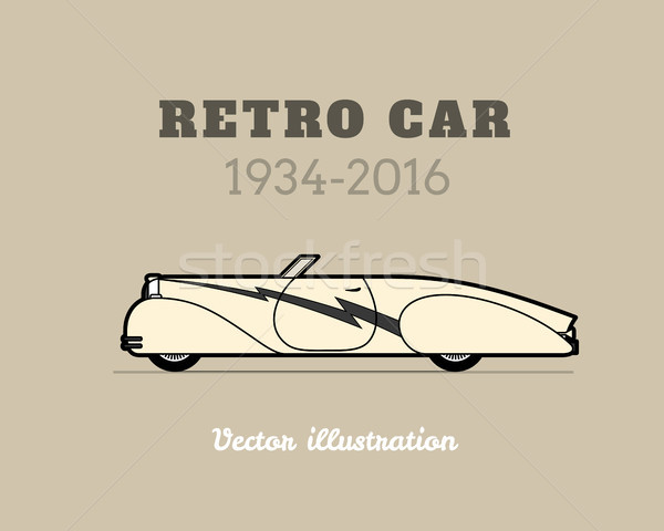 Retro cabriolet sport car, vintage collection Stock photo © sidmay