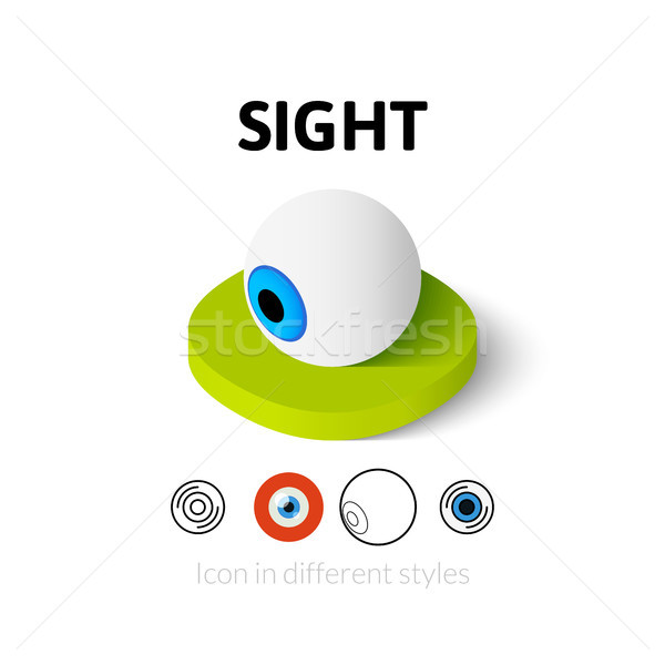 Sight icon in different style Stock photo © sidmay