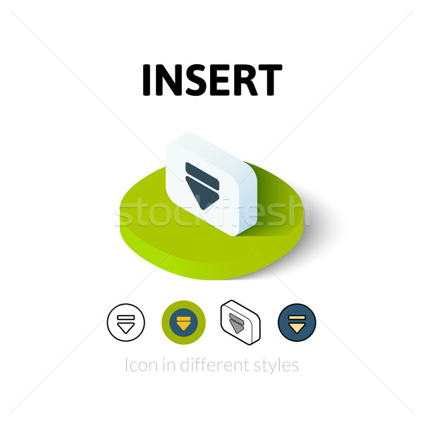 Insert icon in different style Stock photo © sidmay