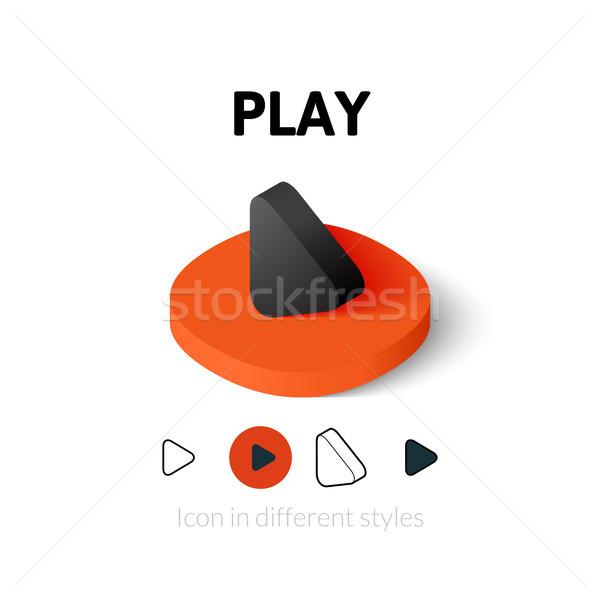 Foto stock: Jogar · ícone · diferente · estilo · vetor · símbolo