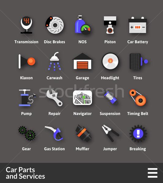Materiale design auto servizi Foto d'archivio © sidmay