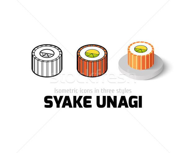 Syake unagi icon in different style Stock photo © sidmay