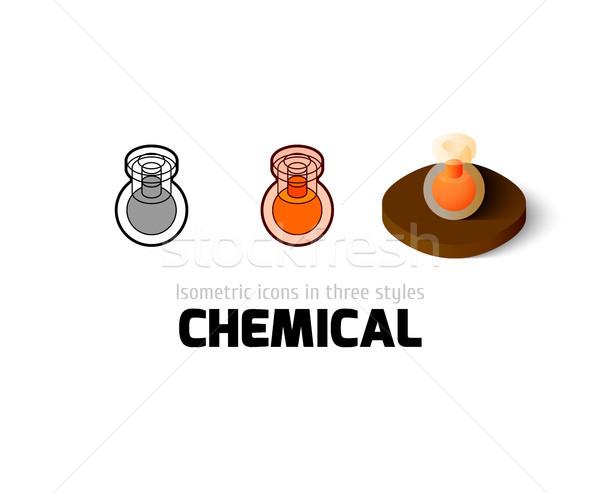 химического икона различный стиль вектора символ Сток-фото © sidmay