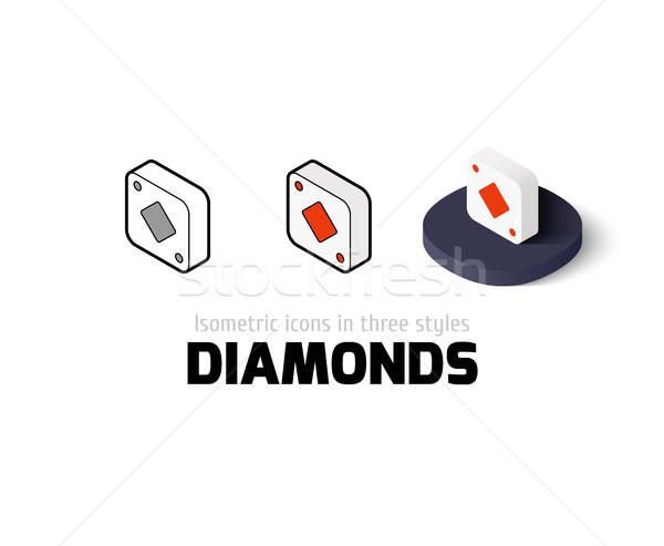 Photo stock: Diamants · icône · différent · style · vecteur · symbole