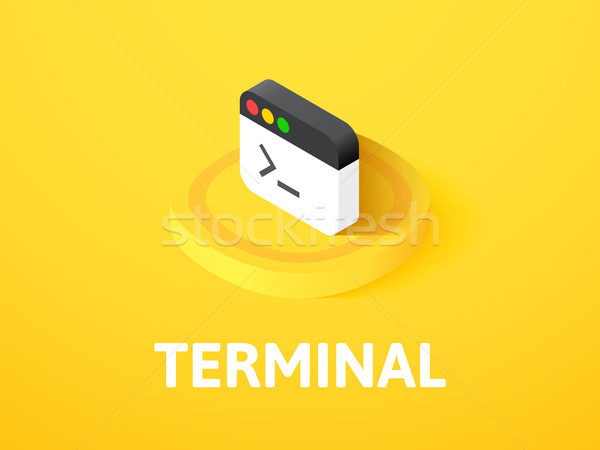 Terminal isometric icon, isolated on color background Stock photo © sidmay