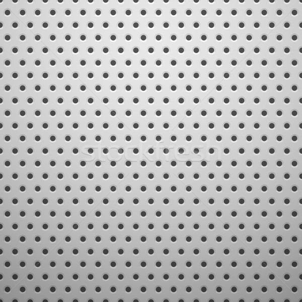 White Metal Texture With Holes Vector Illustration