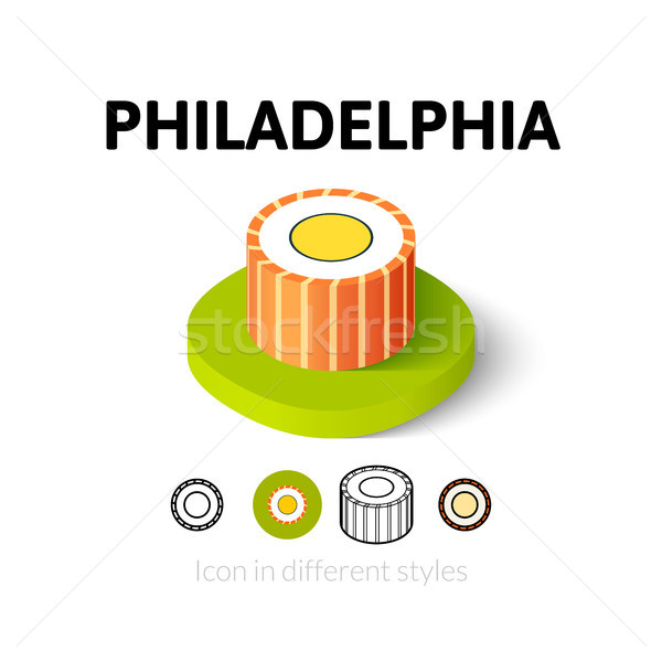 Philadelphia icon in different style Stock photo © sidmay